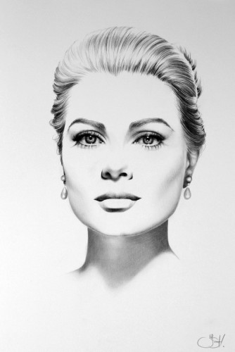 Grace Kelly Portrait by Ilene Hunter