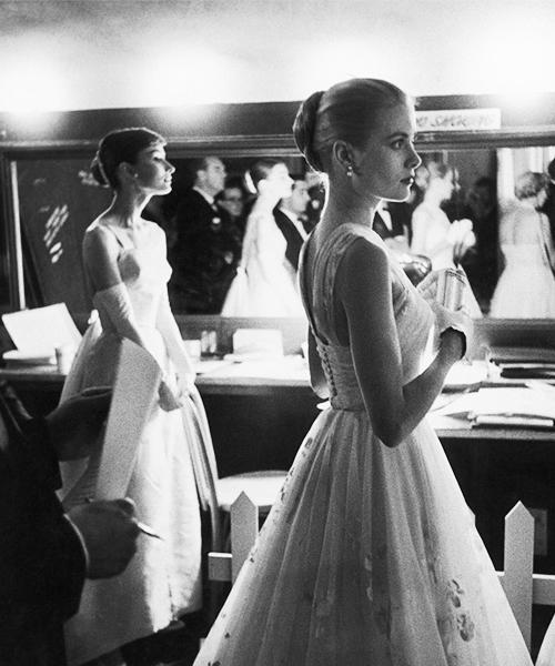 Grace Kelly & Audrey Hepburn 1956