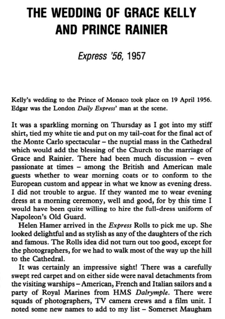 Wedding-Grace Kelly-Part 1