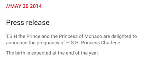 Princess Charlene Pregnancy Announcement