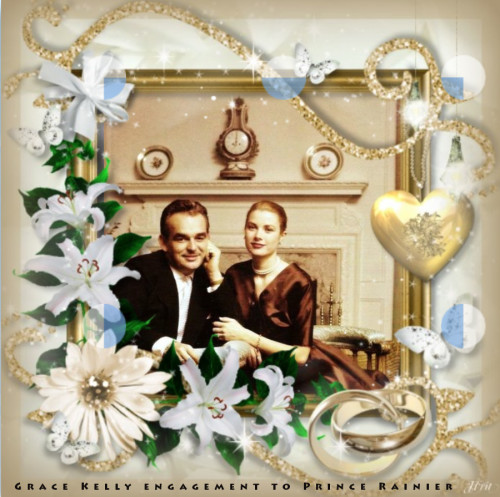 Grace Kelly engagment to Prince Rainier of  Monaco