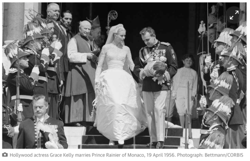 Hollywood actress Grace Kelly marries Prince Rainier of Monaco, 19 April 1956