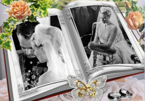 Prince Rainier & Princess Grace formal wedding