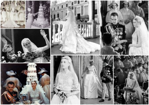 grace kelly wedding collage