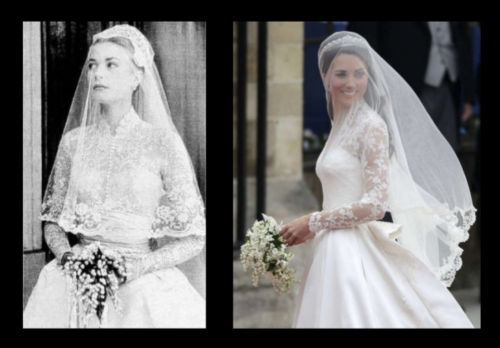 1956 Grace Kelly Wedding Dress & Flowers inspiration for Kate Middleton 2011